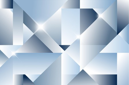 geometric pattern in a square: Cubism abstract background - blue version Illustration