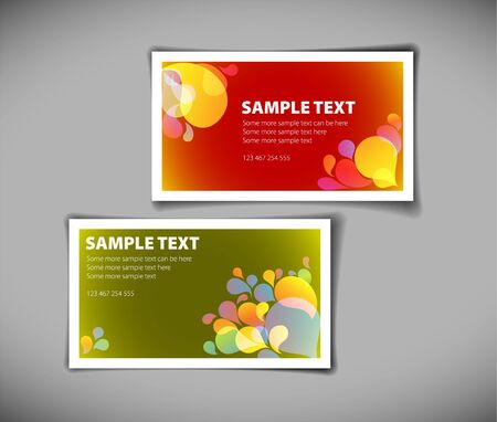 Set of modern colorful business card templates Stock Vector - 7751734