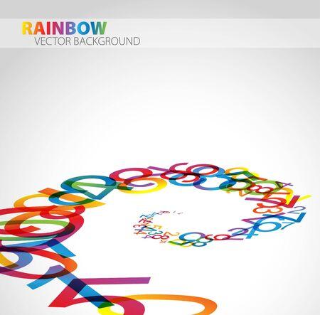 one sheet: 3D astratto sfondo con numeri arcobaleno colorato Vettoriali