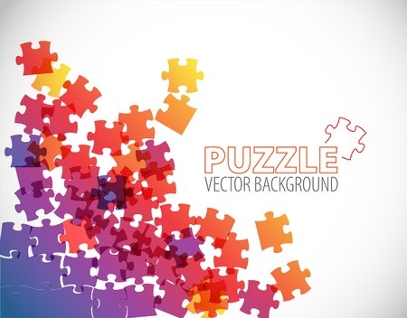 puzzle pieces: Abstract background made from puzzle pieces