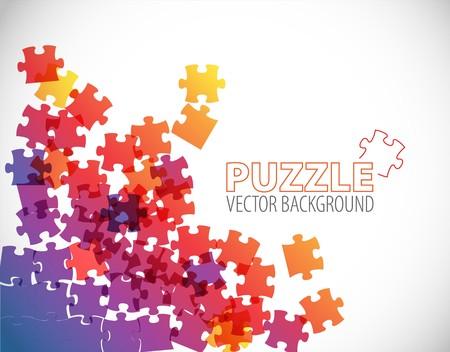 Abstracte achtergrond gemaakt van puzzelstukjes