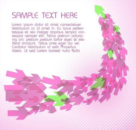 Abstract pink  technical background with arrows Vector