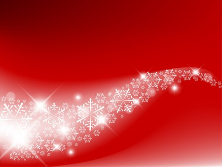 Red Abstract Christmas background with white snowflakes Stock Vector - 7779202