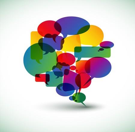 conversations: Nuvoletta grande fatto da bolle colorate  Vettoriali