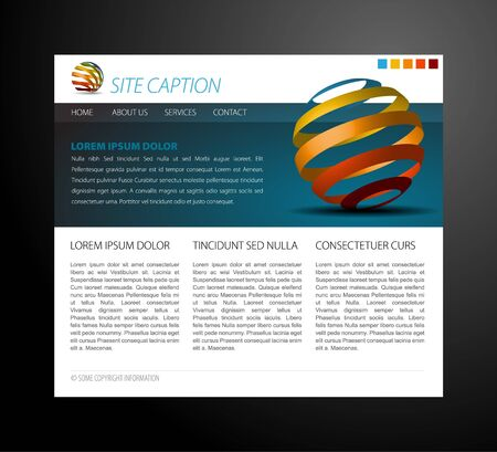 Modern website template - with some 3D elements Stock Vector - 7913590