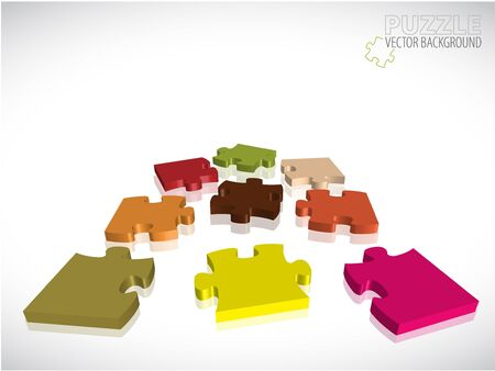 Abstract background with colorful 3D puzzle pieces Stock Photo - 7913446