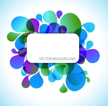 Abstract blue and green background with place for your text photo