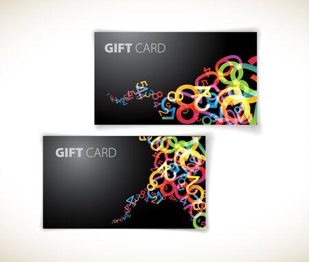 Set of modern dark gift card templates photo