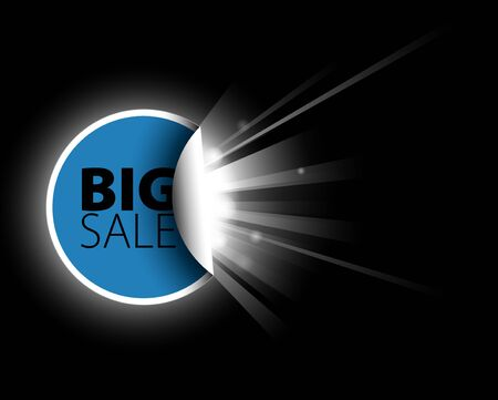 Big blue sale label with surprise Stock Photo - 7913442