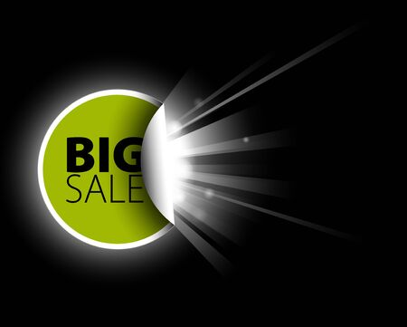 Big green sale label with surprise Stock Photo - 7913440