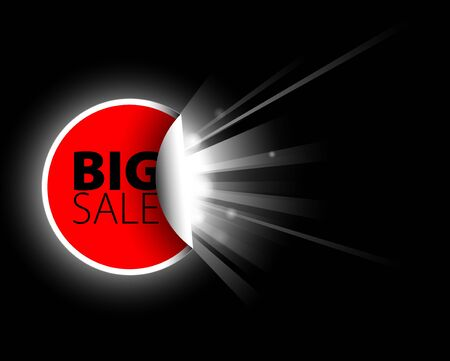 Big red sale label with surprise Stock Photo - 7913445