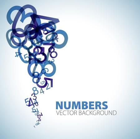 matematica: Fondo abstracto con n�meros azules  Foto de archivo