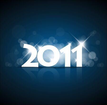 glint: A�o nuevo 2011 con luz de atr�s de la tarjeta y coloca para el texto