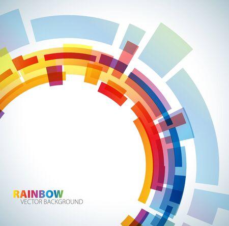 Abstracte achtergrond met regenboog kleuren Stock Illustratie