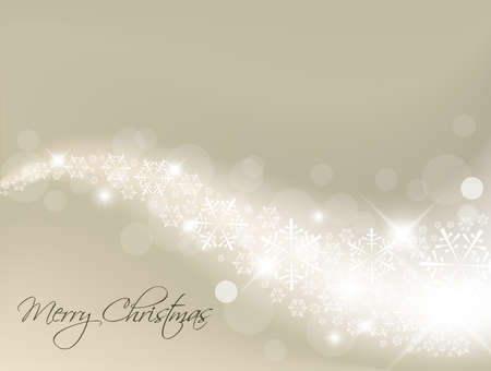 Light silver abstract Christmas background with white snowflakes Vector
