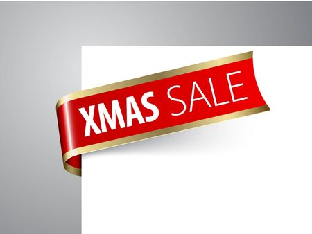 Red  paper tag - christmas sale announcement Stock Vector - 8415064