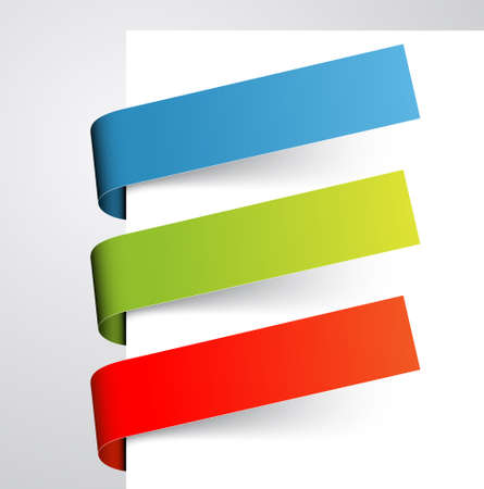 paper tags: Set of colorful paper tags  bookmarks
