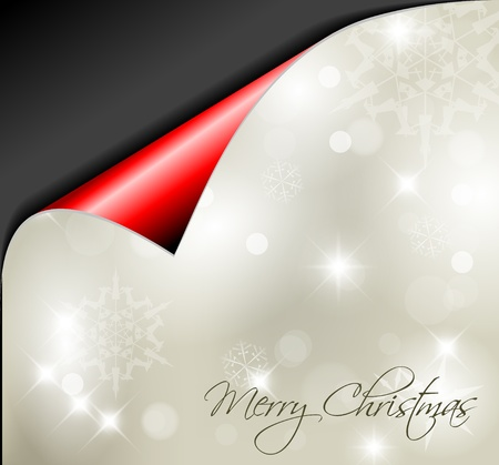 snoflake: Christmas background with white snowflakes and place for your text Illustration