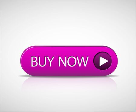 Big purple buy now button with shadow and reflections Vector