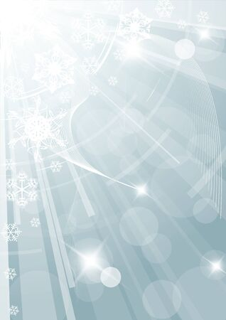 Christmas background with white snowflakes light blue version Vector