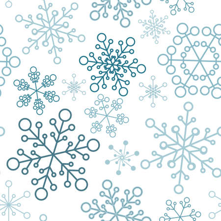 Winter - blue christmas seamless pattern / texture with snowflakes Stock Vector - 8415158
