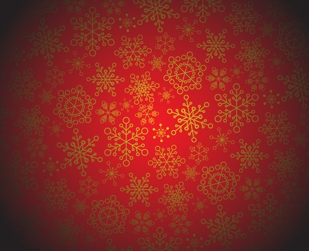 Winter - dark christmas pattern / texture with snowflakes Stock Vector - 8415387
