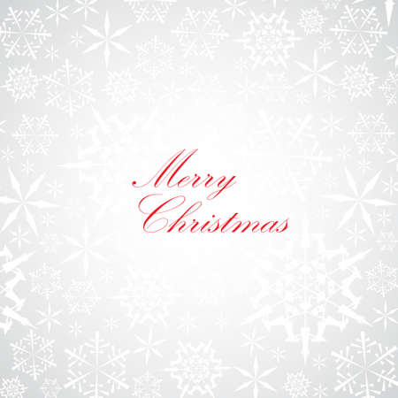 Christmas card with snowflake pattern on the background