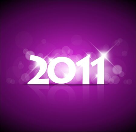 New Years card 2011 with back light and place for your text Stock Vector - 8487595