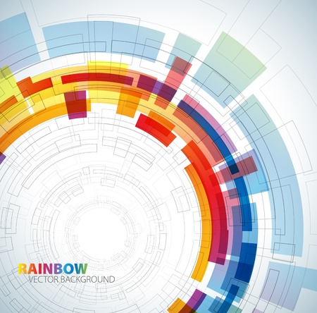 Abstract background with rainbow colors and place for your text Vector