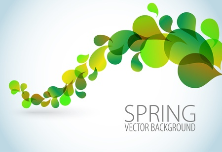 transparent background: Spring Abstract floral background with place for your text