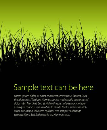 pasturage: Green vector grass background with place for your text