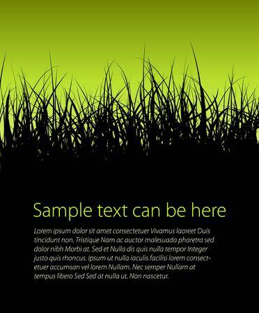 ochtend dauw: Groene vector gras achtergrond met plaats voor uw tekst Stock Illustratie