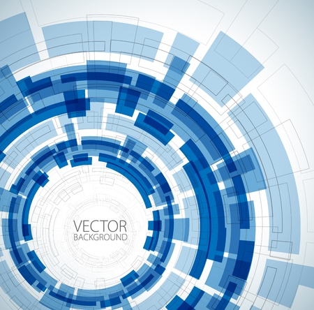 Abstract blue technical background with place for your text Vector