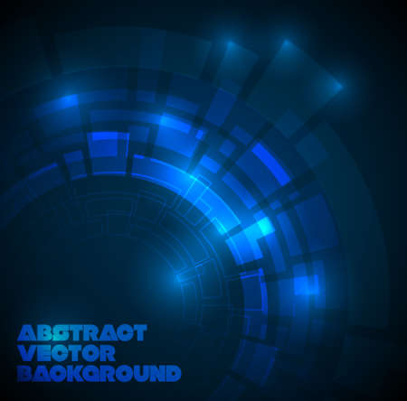 blue balls: Abstract dark blue technical background with place for your text