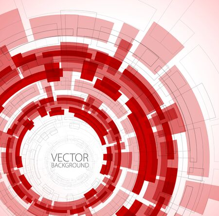 red sign: Abstract red technical background with place for your text Illustration