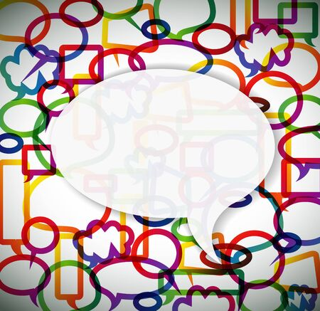 Colorful background made from speech bubbles with place for your text Vector