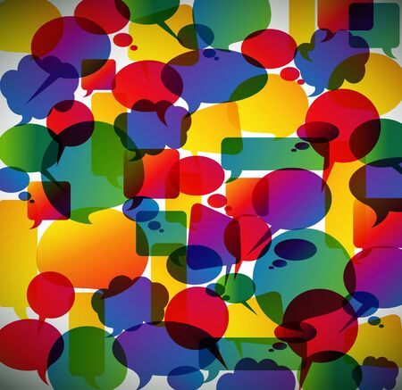 speech: Colorful background made from speech bubbles