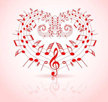 volute: Tema di musica di San Valentino - note thats rendere un cuore