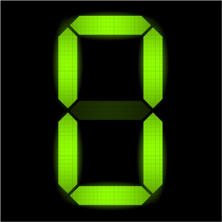 indicatore: Digital numero zero - controllare il mio portafoglio per altri numeri dal set Vettoriali