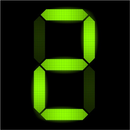 led display: Digital number two  - check my portfolio for other numbers from the set Illustration
