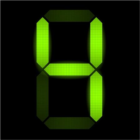 indicatore: Digital numero quattro - controllare il mio portafoglio per altri numeri dal set Vettoriali