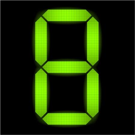Digital número ocho - comprobar mi cartera para otros números del conjunto