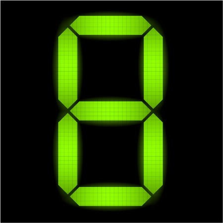 led display: Digital number eight - check my portfolio for other numbers from the set