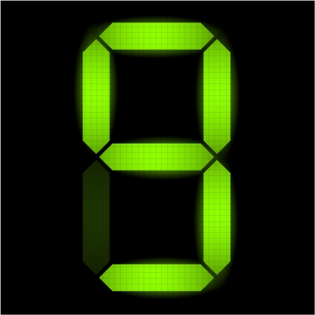 indicatore: Digital numero nove - controllare il mio portafoglio per altri numeri dal set