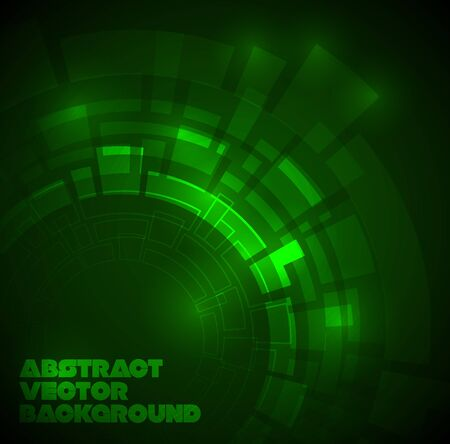 gears background: Abstract dark green technical background with place for your text