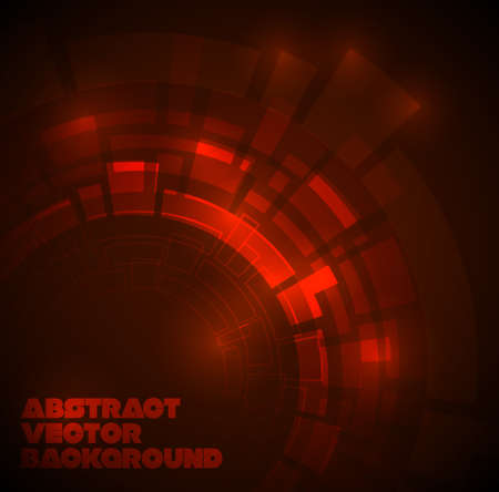 Abstract dark red technical background with place for your text Vector