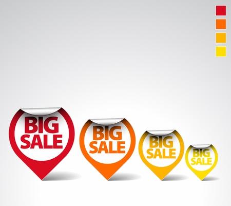 balise: �tiquettes ronde color�  autocollants pour vente big