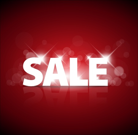 big sale: Big red sale advertisement with sparks on red background Illustration