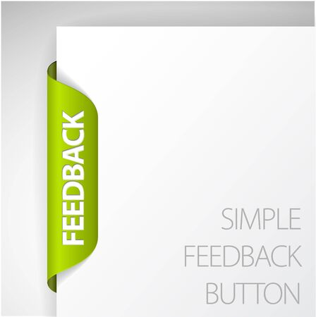feedback label: Feedback Label  Sticker on the edge of the (web) page Illustration