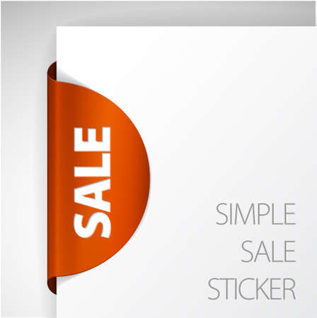 Round Sale Label / Sticker on the edge of the (web) page Stock Vector - 9058137